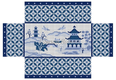 Oriental Scenic, blues  brick cover 6322