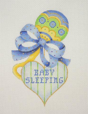 Baby / Sleeping Sign / Rattle with Heart / Blue