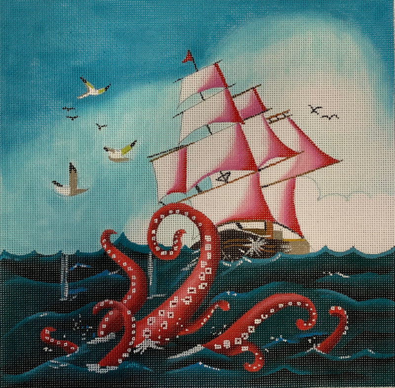 Ship and Octopus
