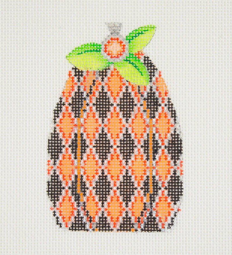 Halloween / Pumpkin / Black & Orange Diamond Pattern