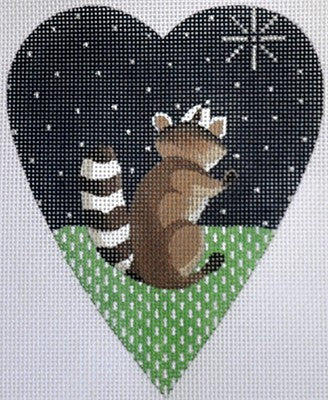 Midnight Raccoon Heart