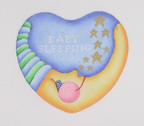 Baby Sleeping Moon Heart ­ Blue & Green