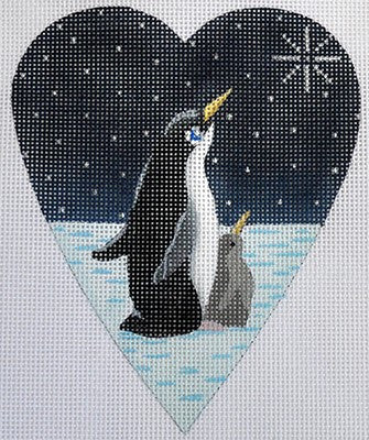 Midnight Penguin Heart