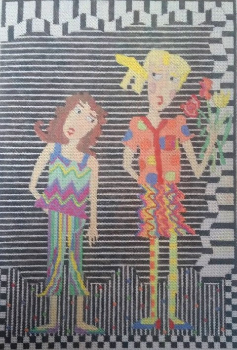 "Penny Macleod:PM196, 9 x 13 1/4"", 18M 2 Girls"