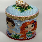 Mermaid/Merboy Oval Hinged Box w/Hardware