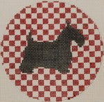 Scottie Dog on Red Check