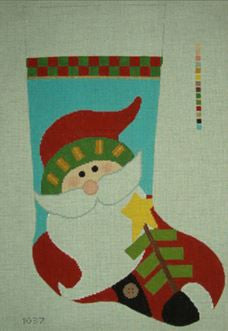 Primitive Santa Stocking
