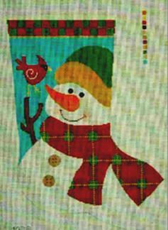 Primitive Snowman Stocking