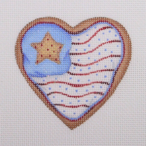 Gingerbread / Cookie / Heart Shaped Flag