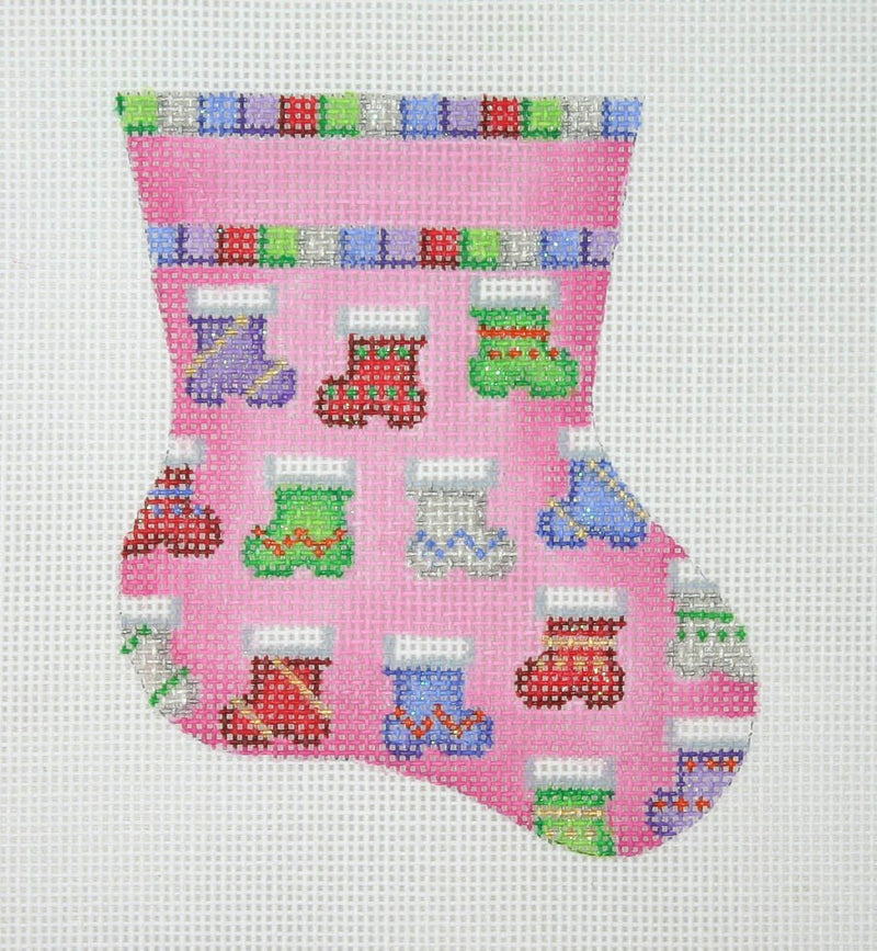 Christmas Mini-Sock / Pink / Socks