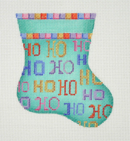 Christmas Mini-Sock / Aqua / HO