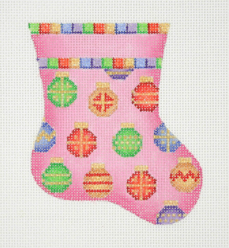 Christmas Mini-Sock / Pink / Ornament