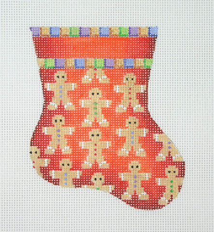 Christmas Mini-Sock / Red / Gingerbread Men