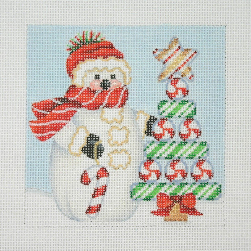 Christmas Ornament / Snowman Square / Candy Cane Tree