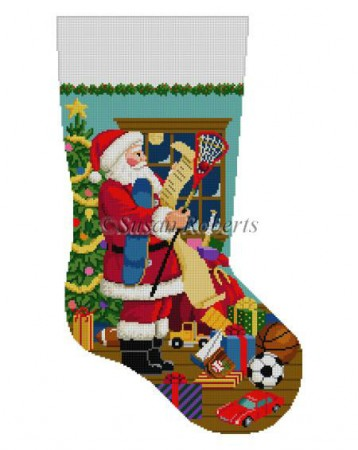 Santa's List Stocking, Boy