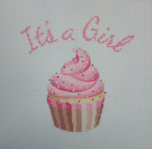 It's a Girl Cupcake Stand-Up