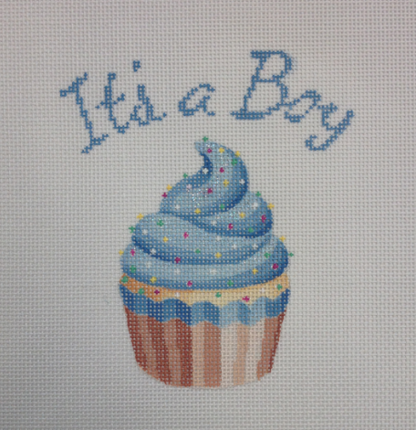 It's a Boy Cupcake Stand-Up