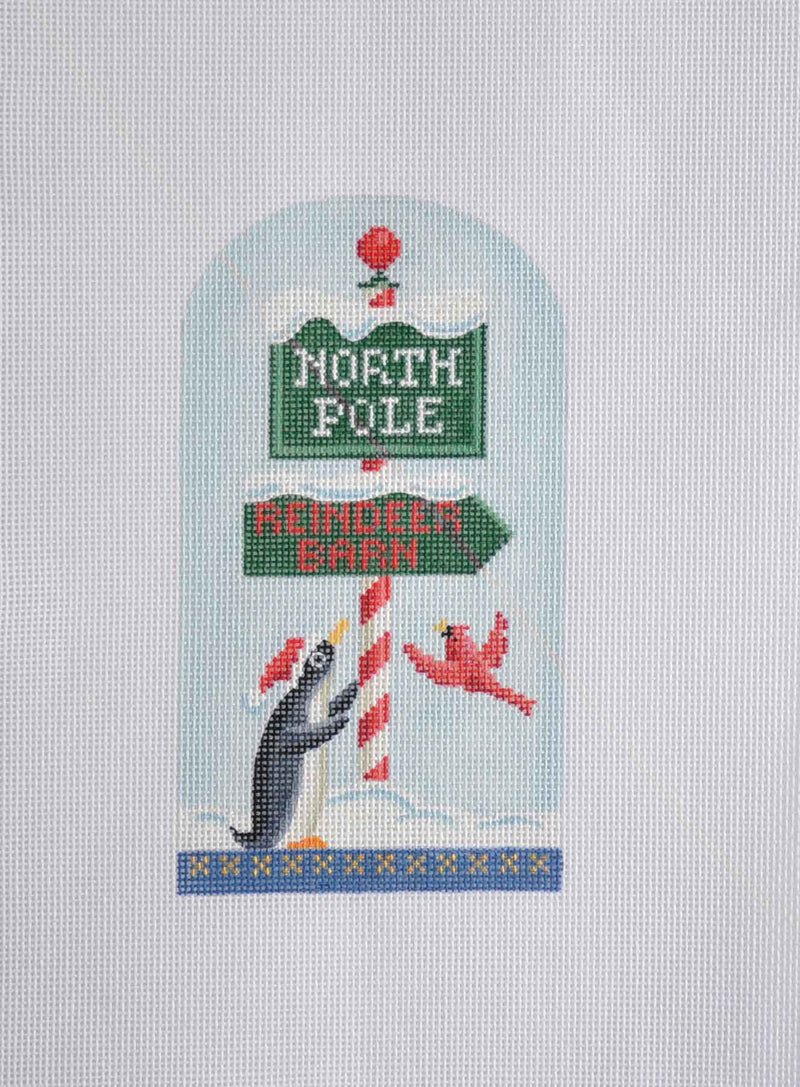 North Pole Series- Penguin & Sign