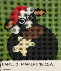 Danger! Man Eating Cow
