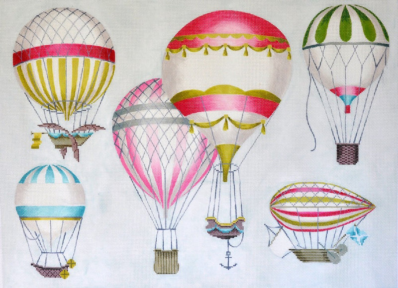 Hot Air Balloon- Multi- Pink