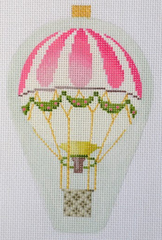 Balloon Ornament- Pink Stripe