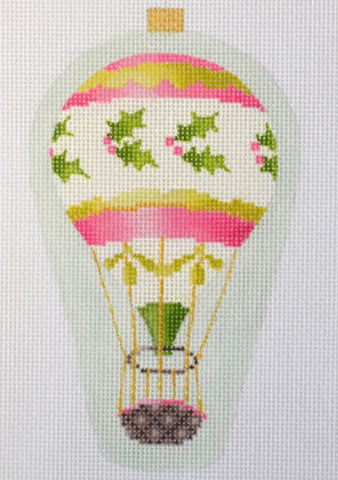 Balloon Ornament- Pink Holly