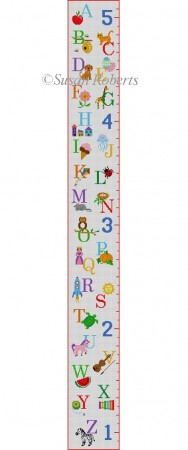Alphabet Sampler, growth chart