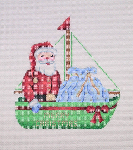Sailboat Santa and Toy Bag