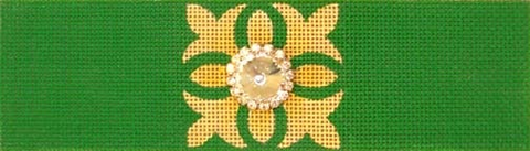 Green/Gold Bracelet - BeStitched Needlepoint