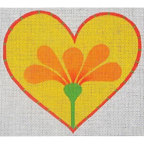 Heart w/ Orange Flower 18 mesh