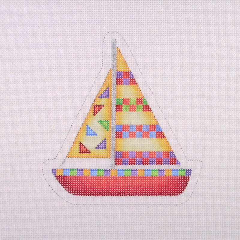 By the Sea / Sailboat / Red, Yellow, Purple