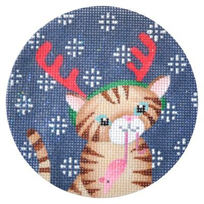 Ginger Cat Xmas Circle