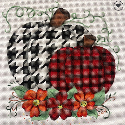 Houndstooth and Plaid Pumpkins