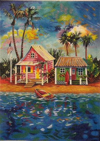 Beach Bungalow with Boat