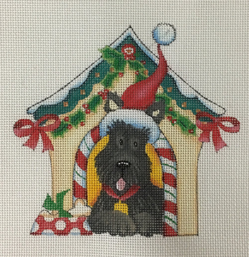 Holiday Scottie - BeStitched Needlepoint