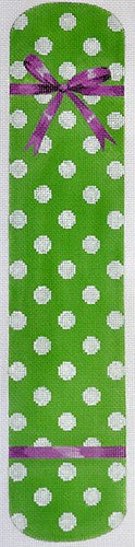 Polka Dot & Bow Eyeglass Case Green
