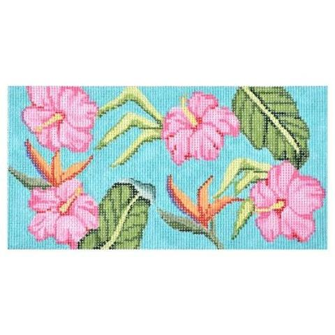 Tropical Hibiscus Eyeglass Case