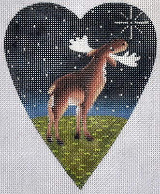 Midnight Moose Heart