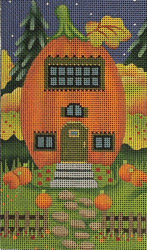 RicRac Window Pumpkin House