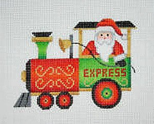 Christmas Ornament / Train / Engine with Santa