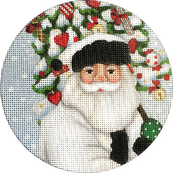 White Santa with Tree Ornament