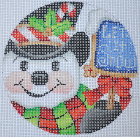 "Christmas Ornament / Snowman ""Let it Snow"""