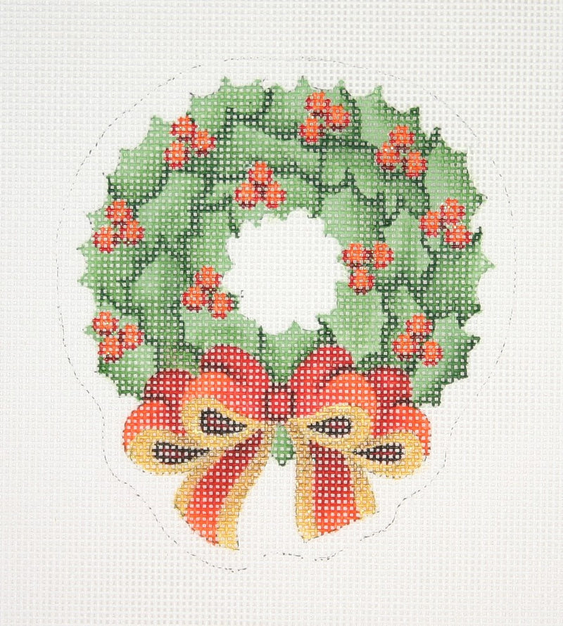 Christmas Ornament / Wreath with Red Bow
