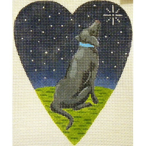 Midnight Black Labrador Heart