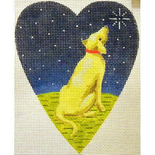 Midnight Golden Labrador Heart