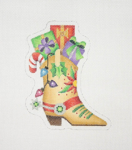 Christmas Ornament / Cowboy Boot with Packages