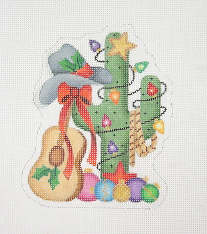 Christmas Ornament / Cactus with Christmas Ornaments