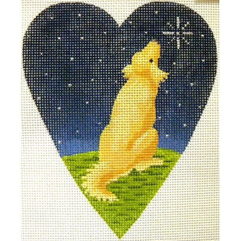 Midnight Golden Retriever Heart