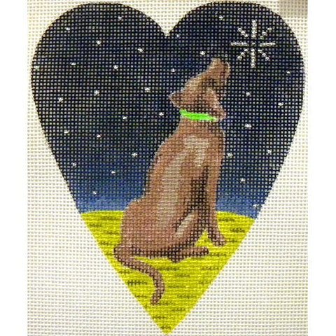 Midnight Chocolate Labrador Heart