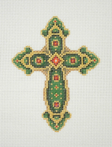 Cross / Green & Gold / Red Jewels